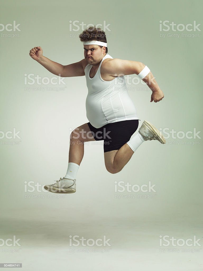 I feel in shape already stock photo