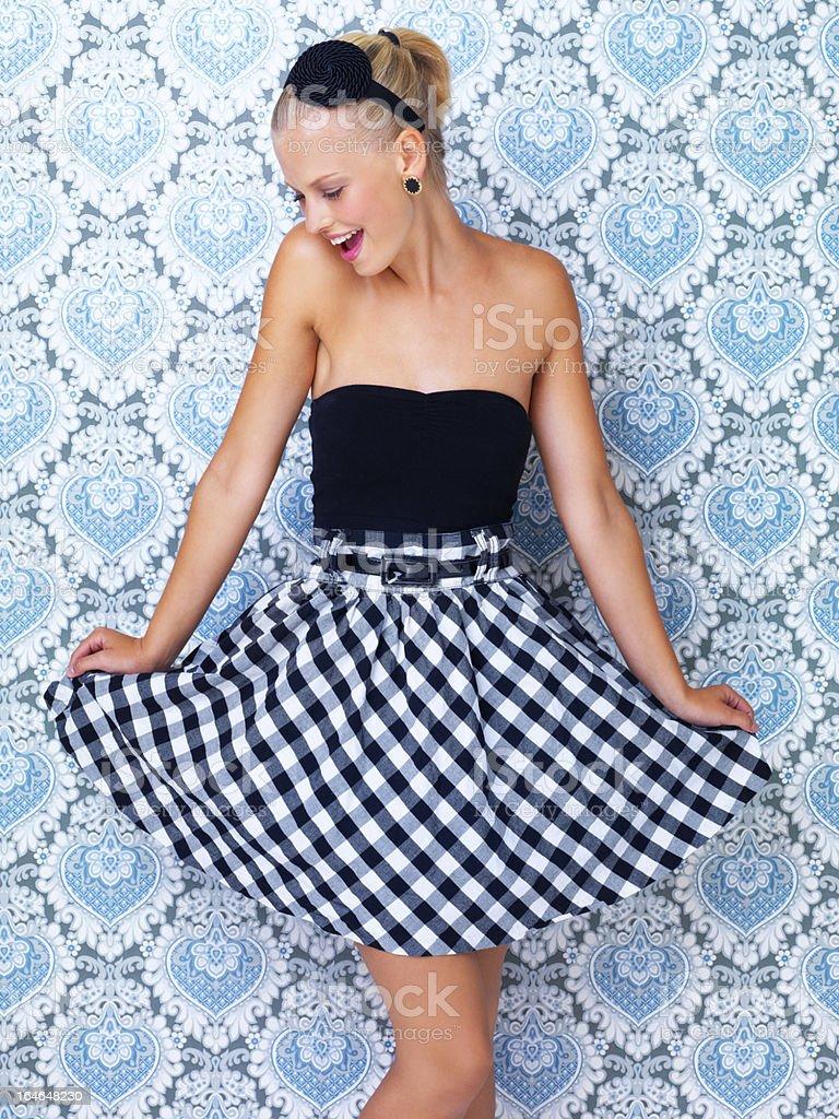 I feel pretty! - Retro chic stock photo