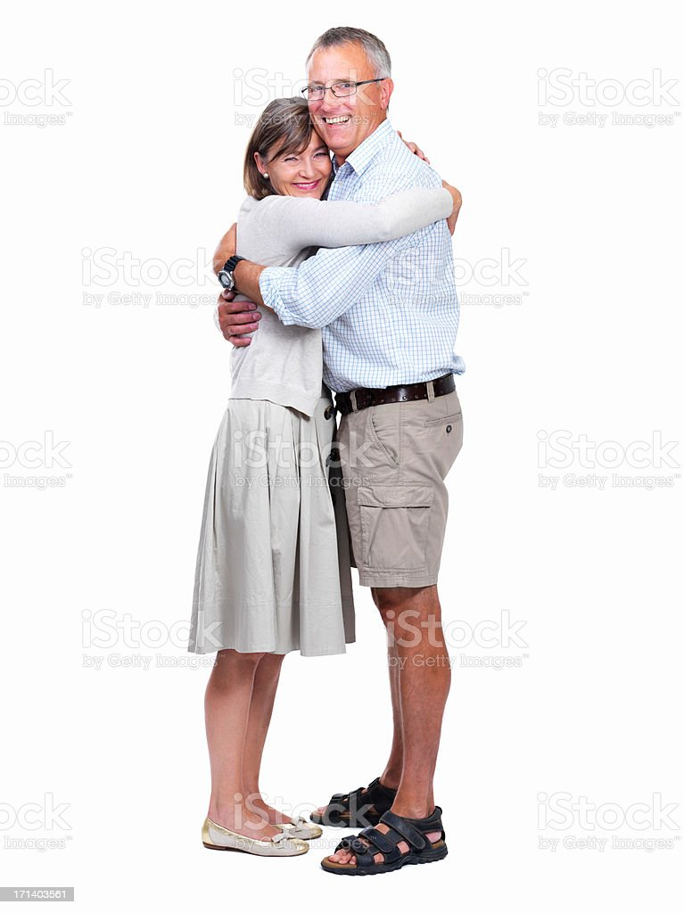 I feel safe in his arms stock photo