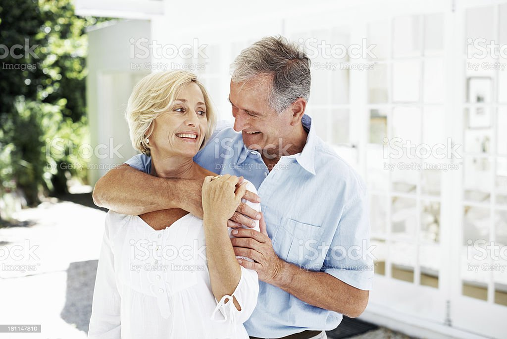 I feel safe in his arms royalty-free stock photo