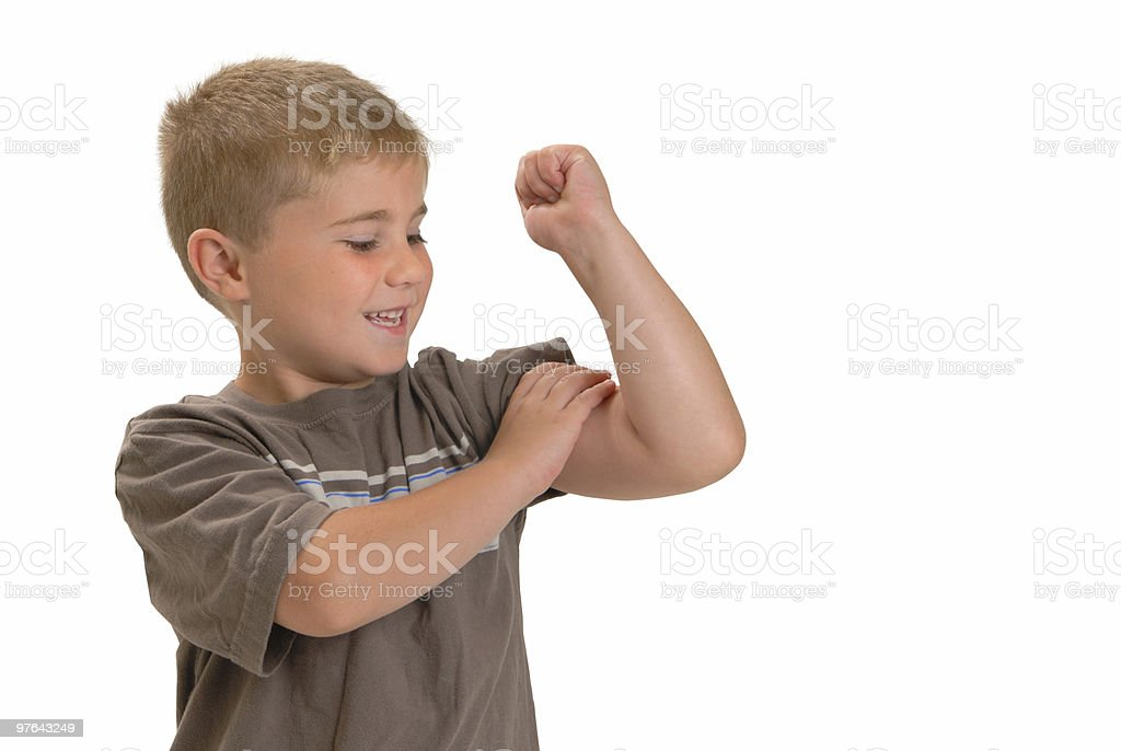 Feel that Muscle royalty-free stock photo