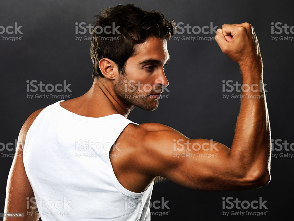 Feel the power - Male Health and Concepts stock photo