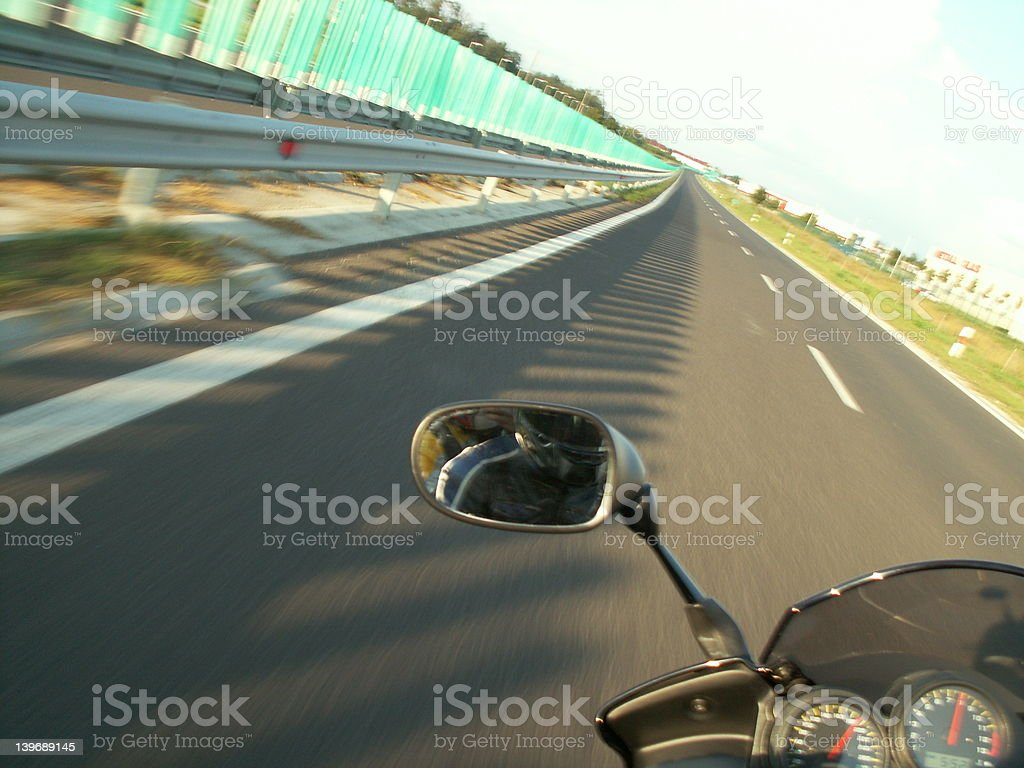 feel the speed at 118 Mph royalty-free stock photo
