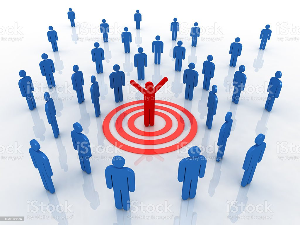 Feel the success. Business people and human resources. stock photo