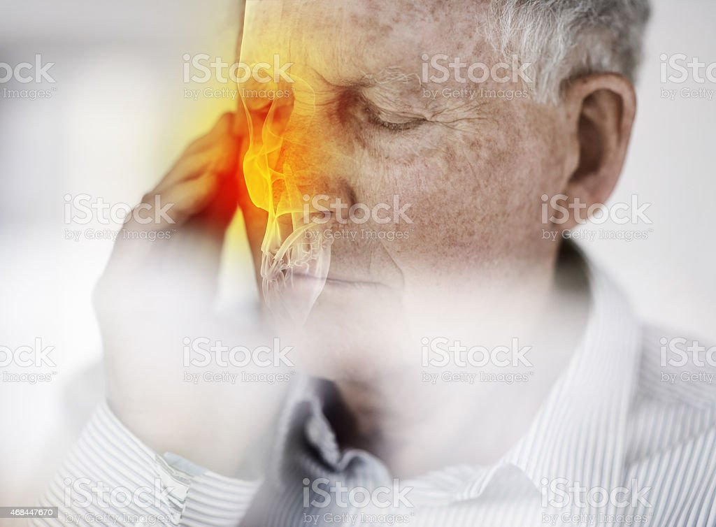 Feeling a little under the weather stock photo