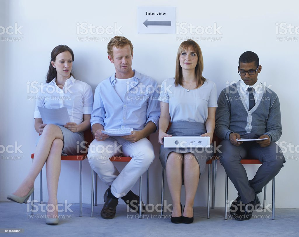 Feeling a touch of inadequacy stock photo
