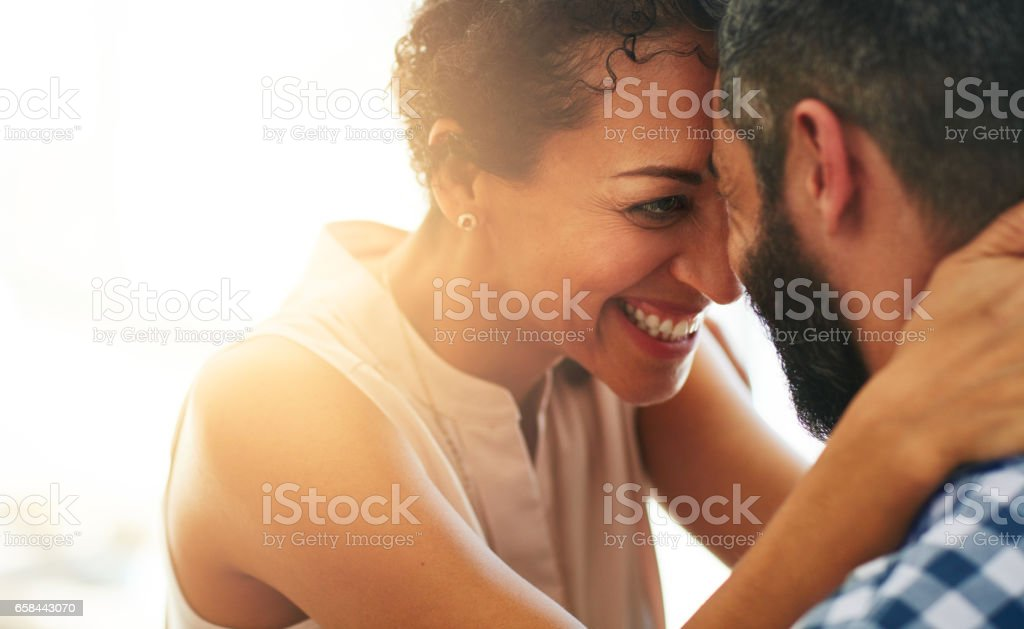 Feeling all warm and fuzzy inside stock photo