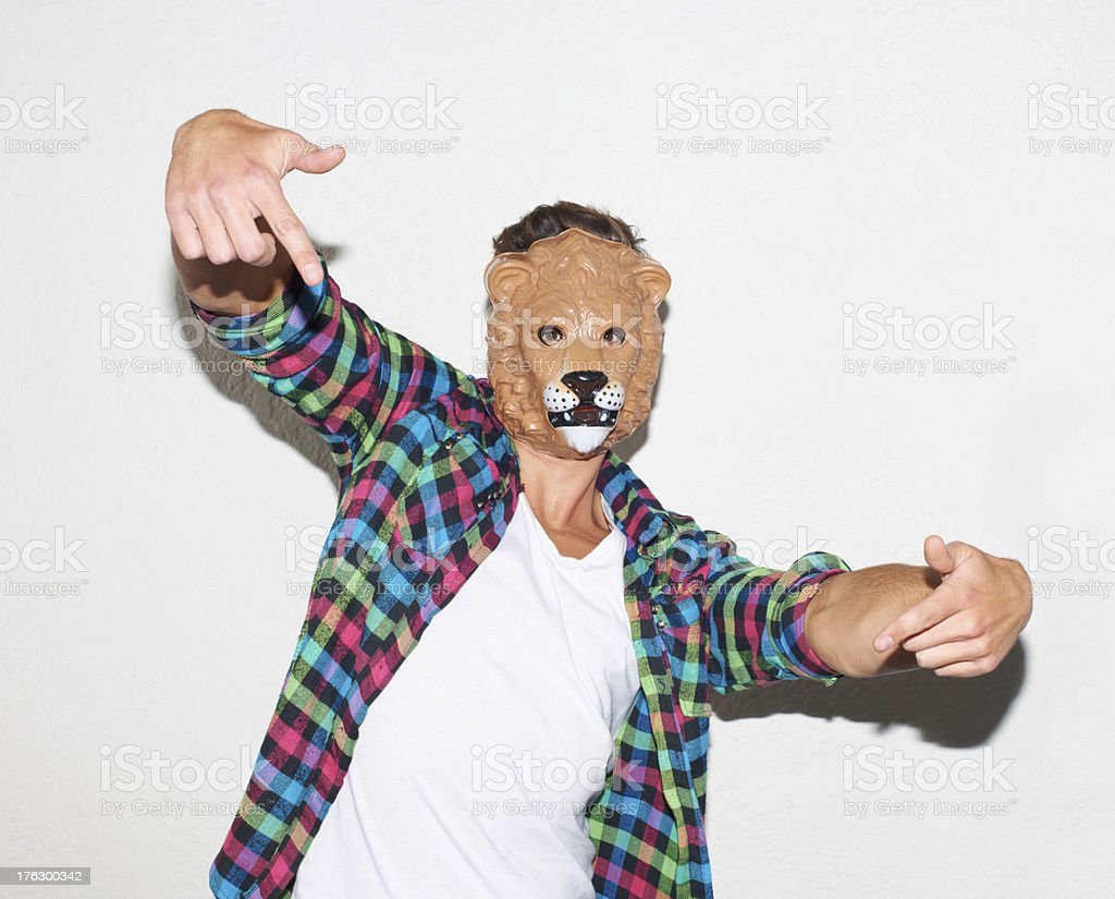 Feeling animalistic stock photo