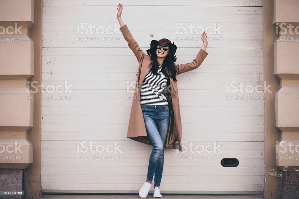 Feeling carefree. stock photo