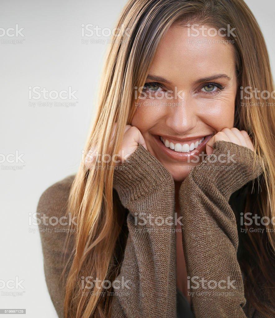 Feeling cheerful stock photo