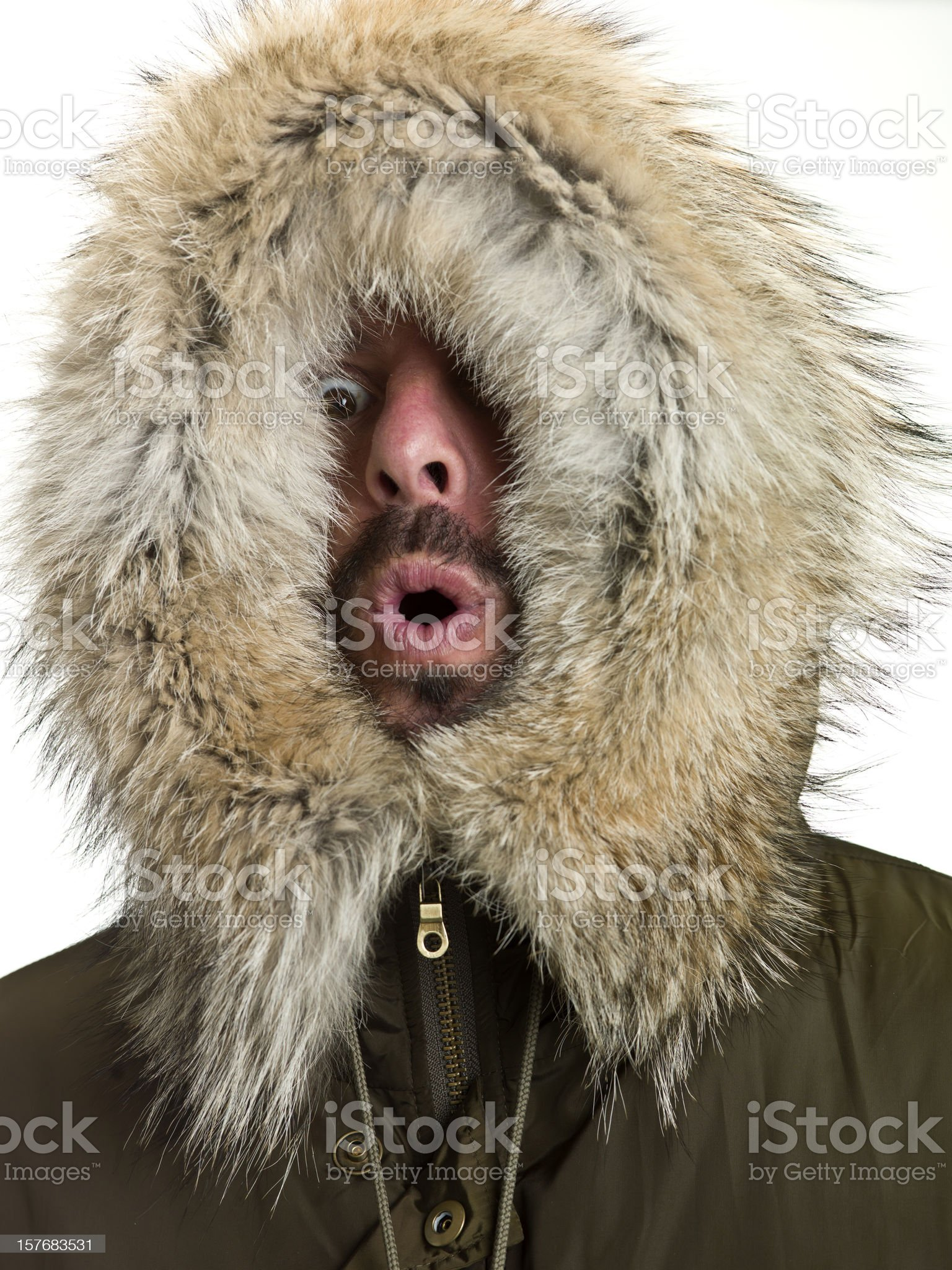 Feeling Cold royalty-free stock photo