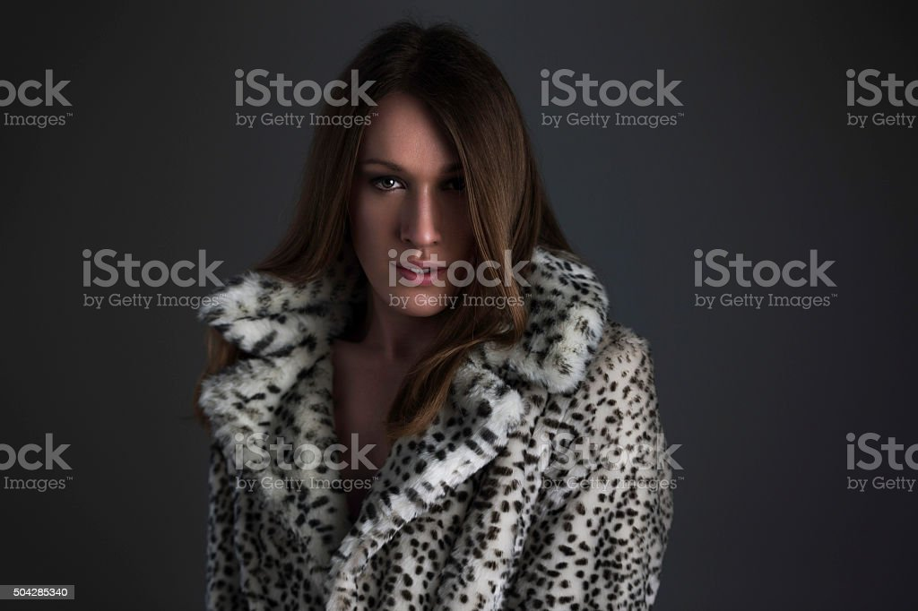 Feeling Comfortable in Her True Identity stock photo