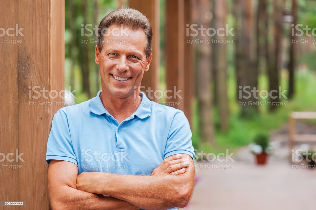 Feeling confident and relaxed. stock photo