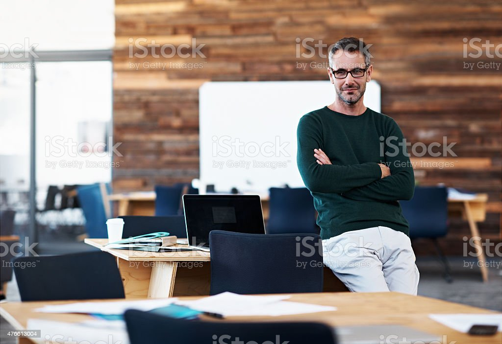 Feeling confident in the business world stock photo