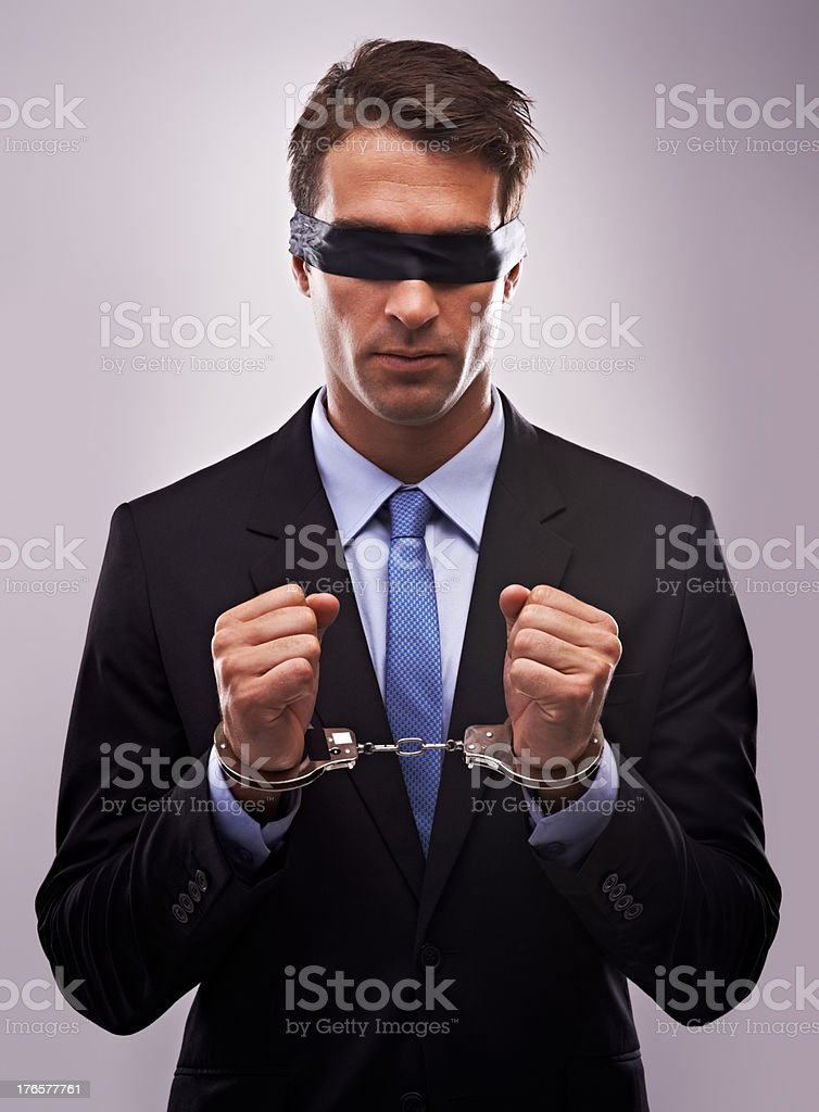 Feeling constrained at work? stock photo