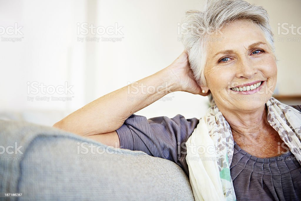 Feeling content with her life stock photo