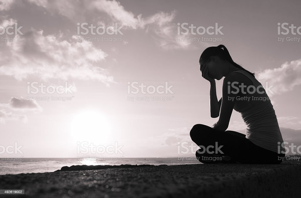 Feeling down stock photo