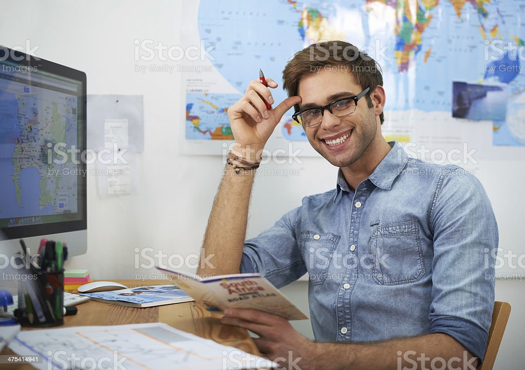 Feeling excited about traveling stock photo
