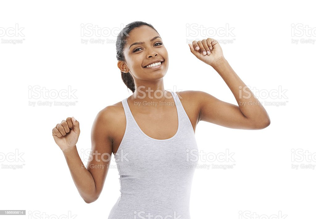 Feeling filled with positivity royalty-free stock photo