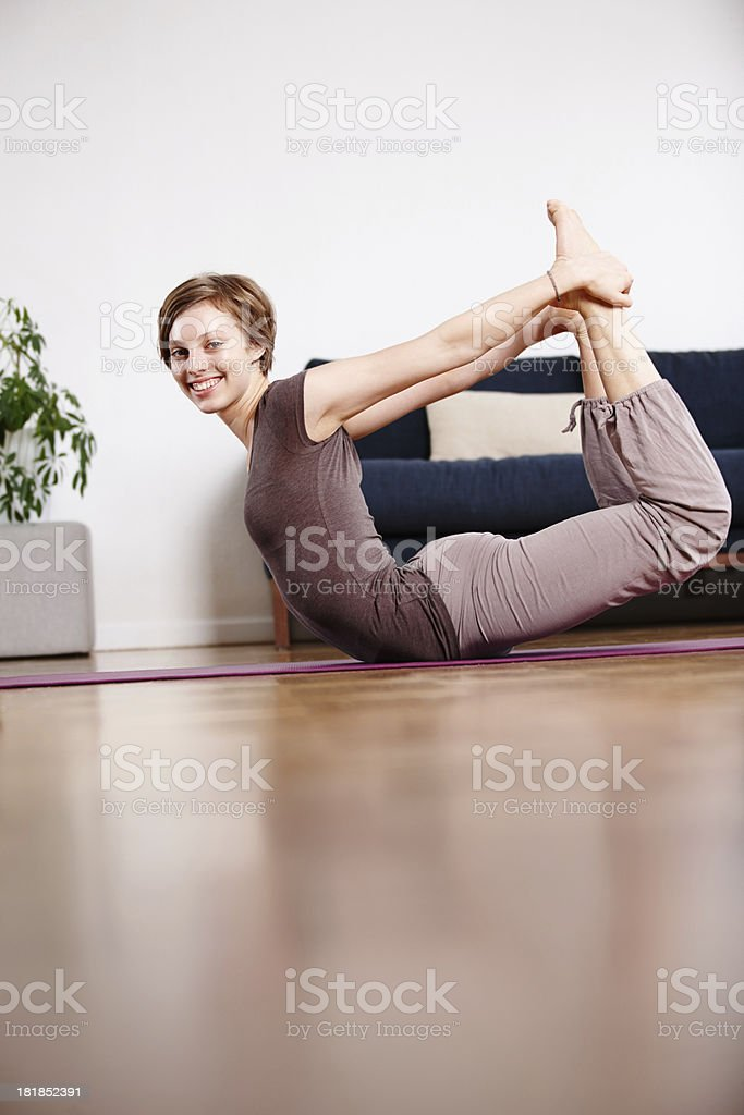 Feeling fit and flexible royalty-free stock photo