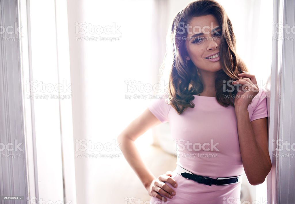 Feeling flirty stock photo