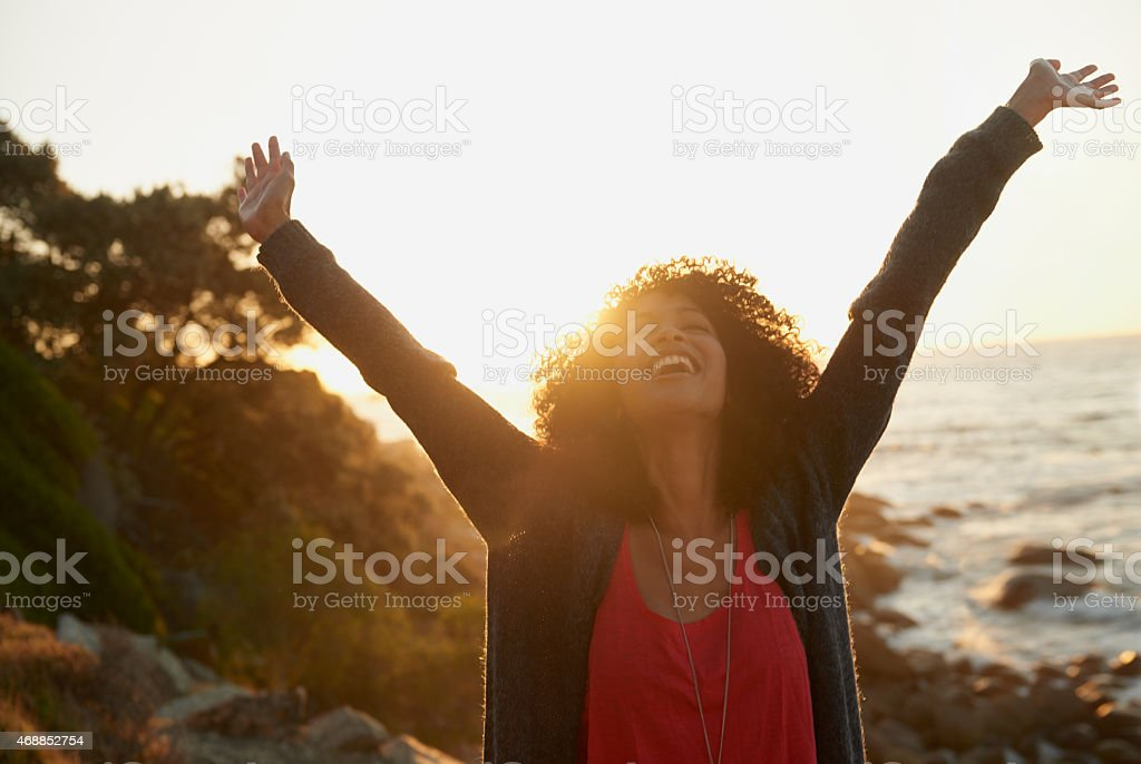 Feeling free!!! stock photo
