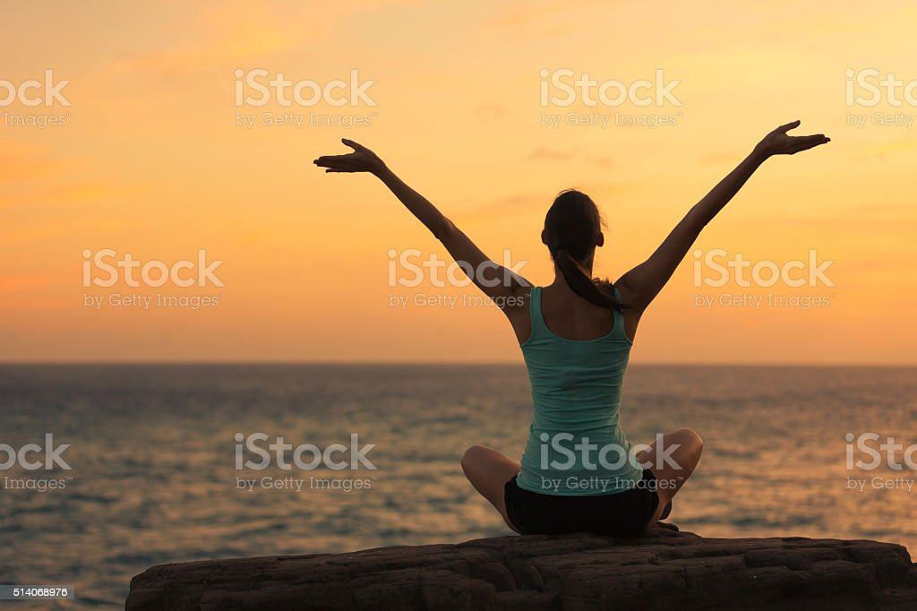 Feeling free! stock photo