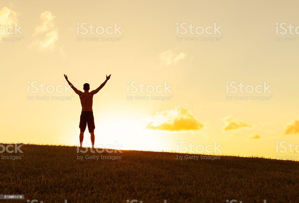 Feeling free stock photo