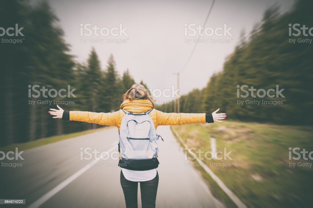 Feeling free. stock photo
