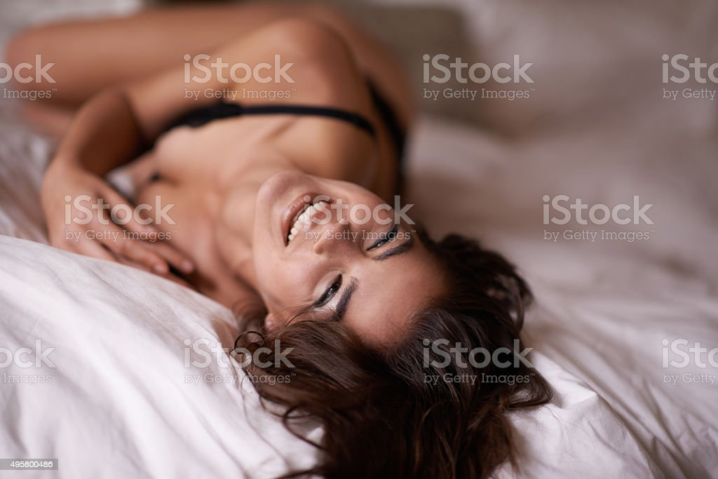 Feeling good about me stock photo