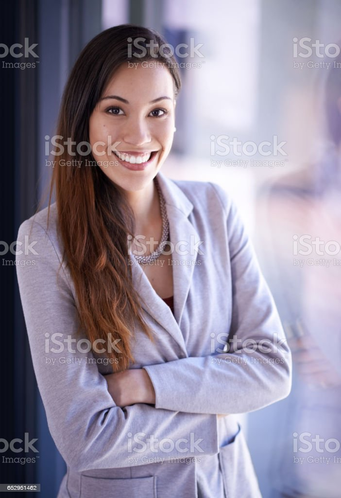 Feeling good about the state of business stock photo