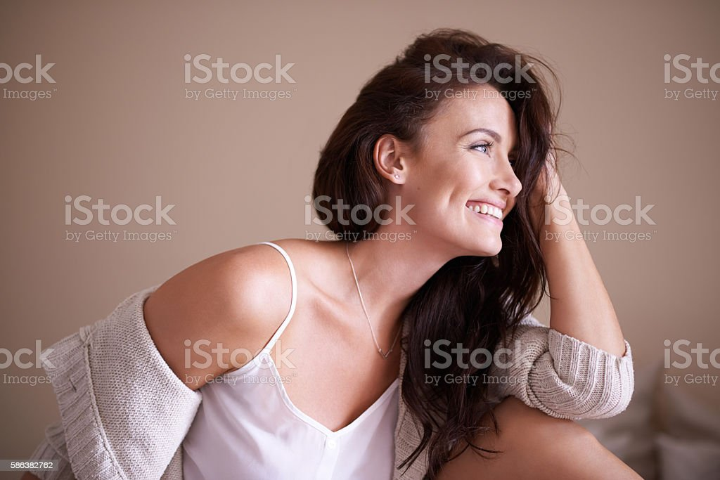 Feeling good about yourself is very important stock photo