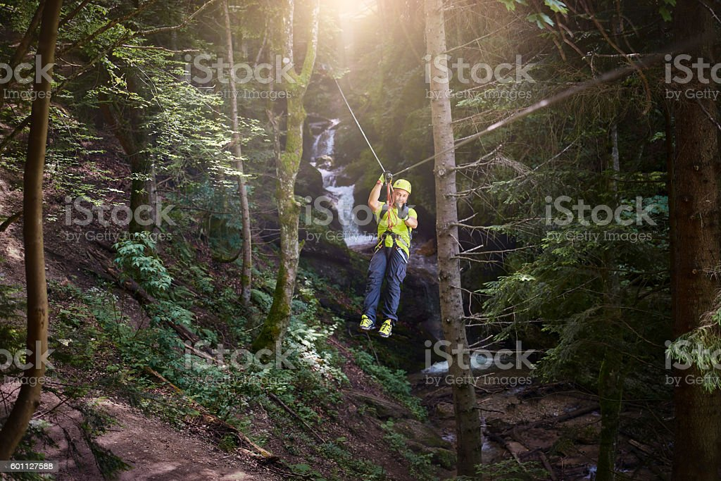 feeling great in my adventure day stock photo