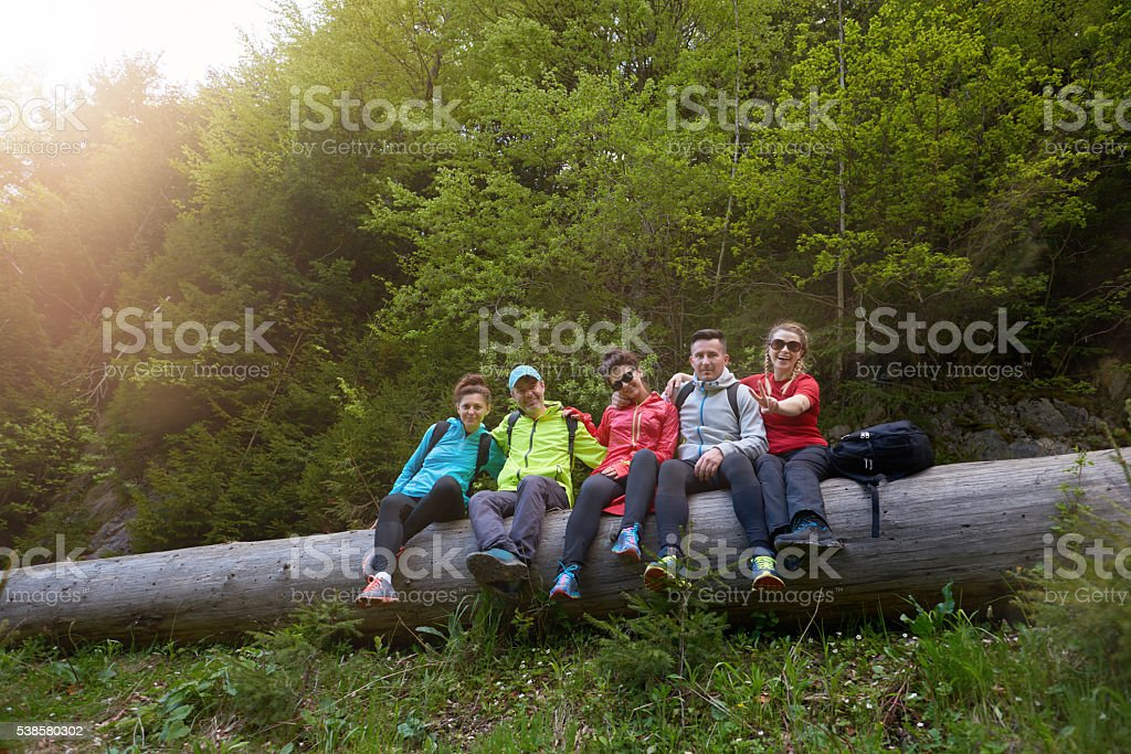 feeling great in our adventure stock photo
