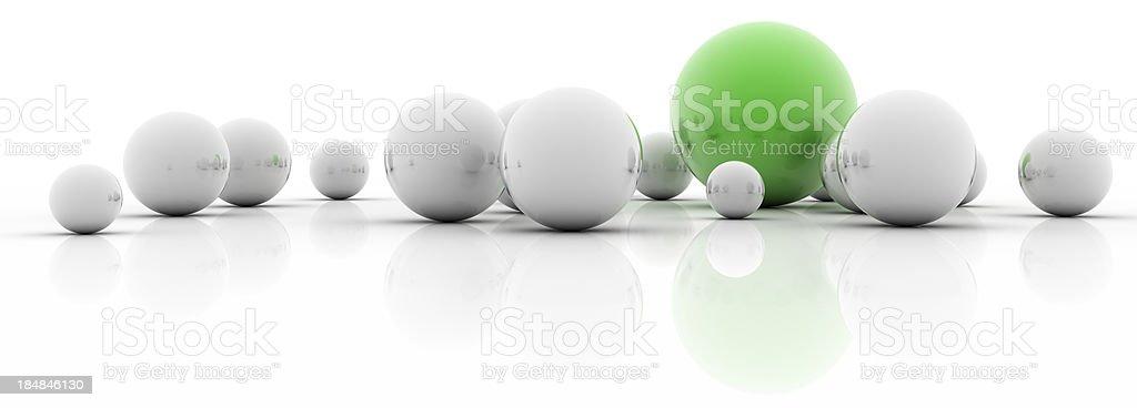 Feeling green (isolated on-white) stock photo