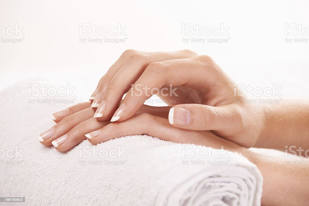 Feeling her smooth skin royalty-free stock photo