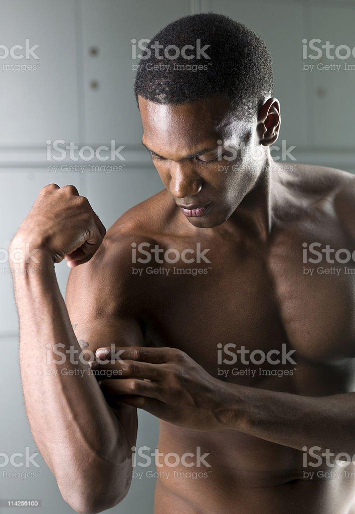 Feeling muscular pain royalty-free stock photo