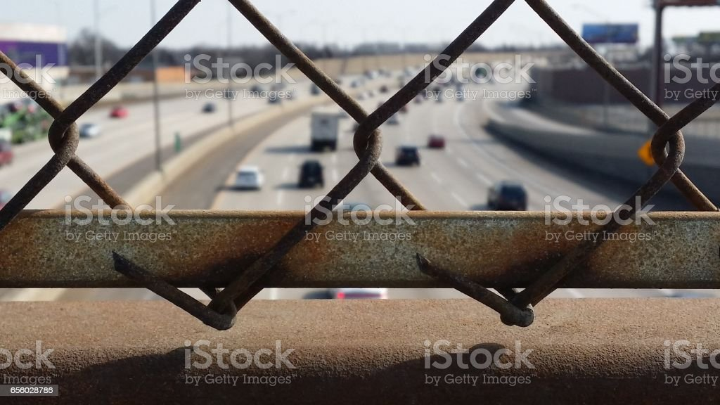 Feeling of Isolation and Captivity in a Big City stock photo