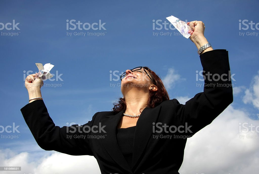 Feeling of success. stock photo