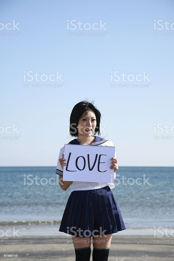 Feeling of the love royalty-free stock photo