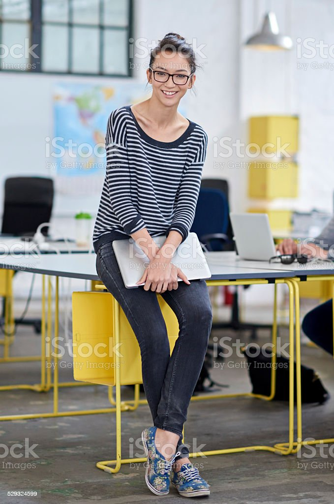 Feeling positive about my freelancing stock photo