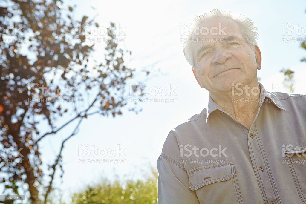Feeling rejuvenated by the fresh air royalty-free stock photo