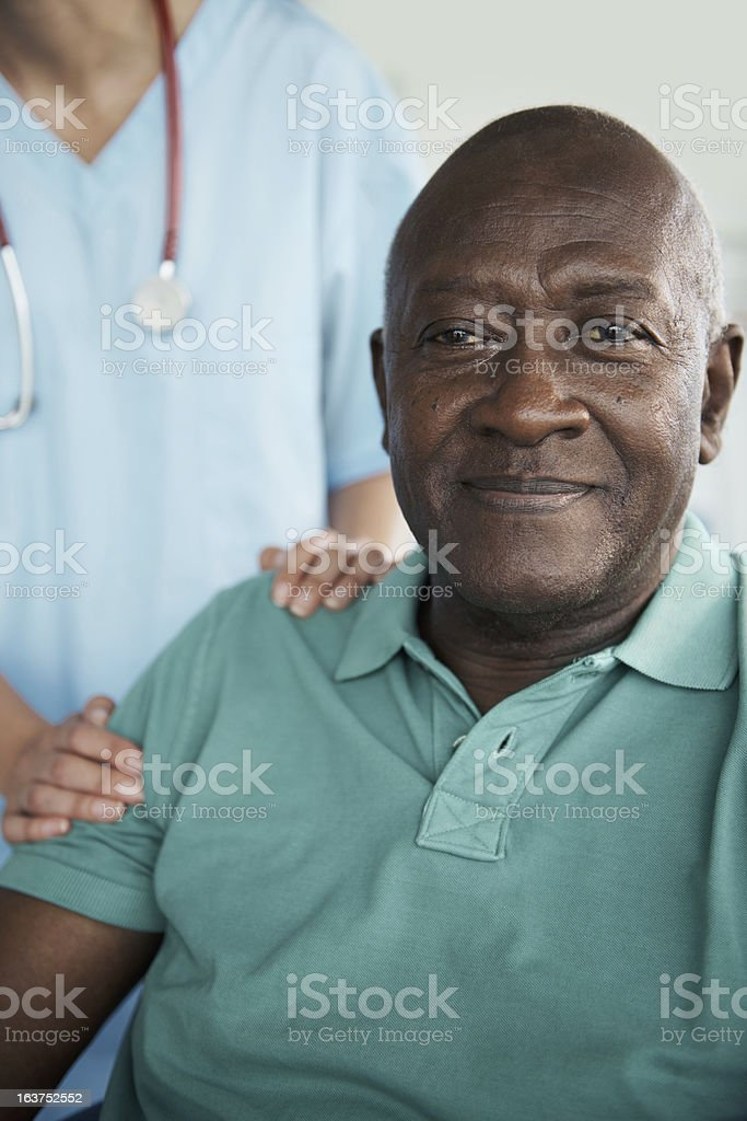 Feeling relaxed about the impending operation stock photo