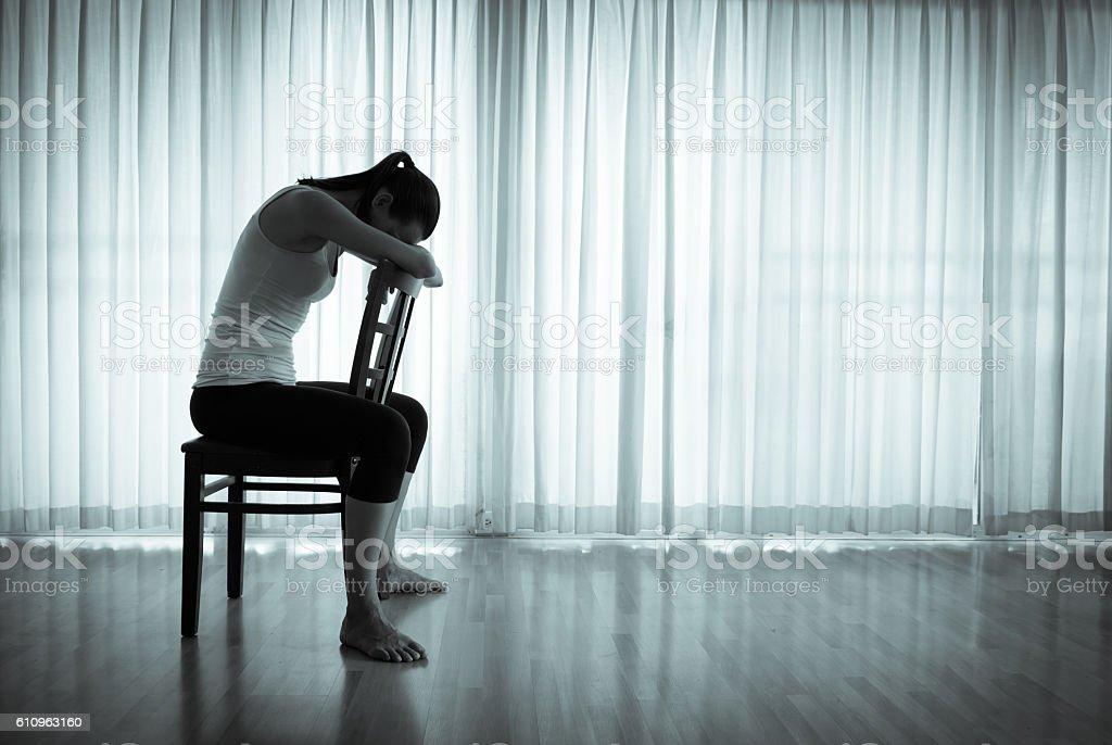 Feeling sad stock photo