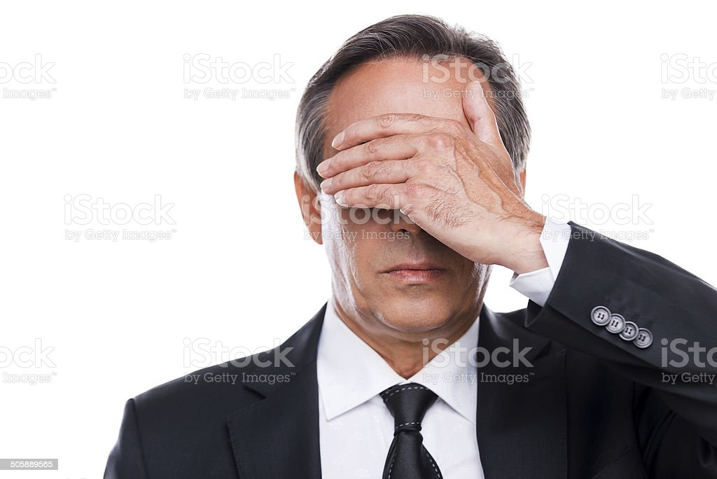 Feeling shame. stock photo