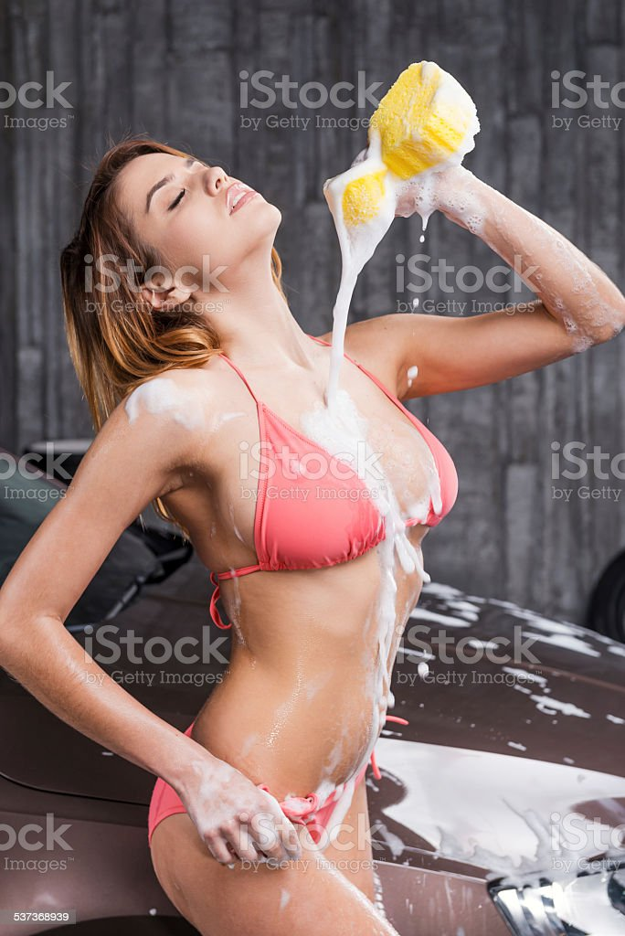 Feeling so hot. stock photo