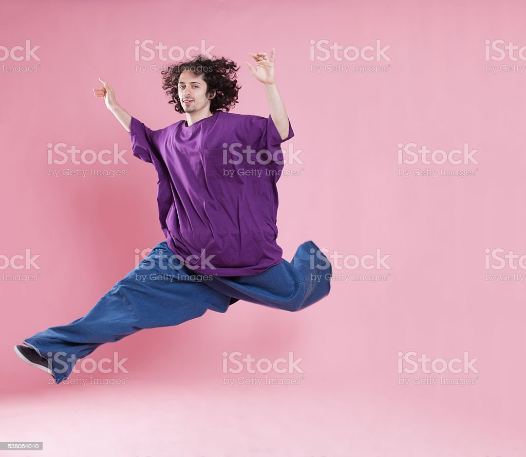 Feeling super light weight stock photo