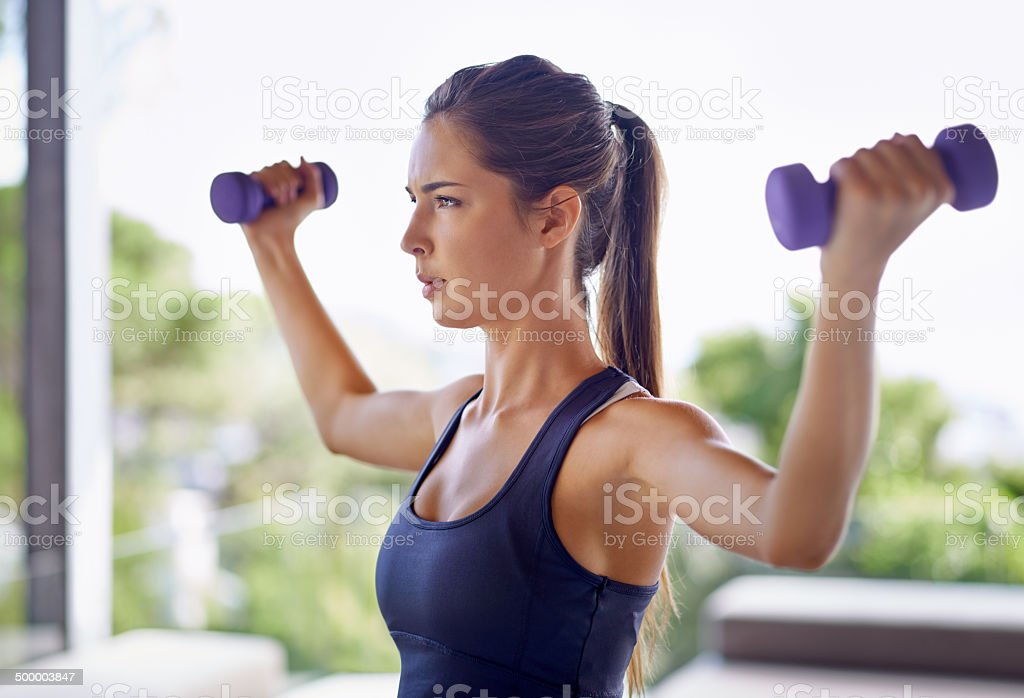 Feeling the burn stock photo