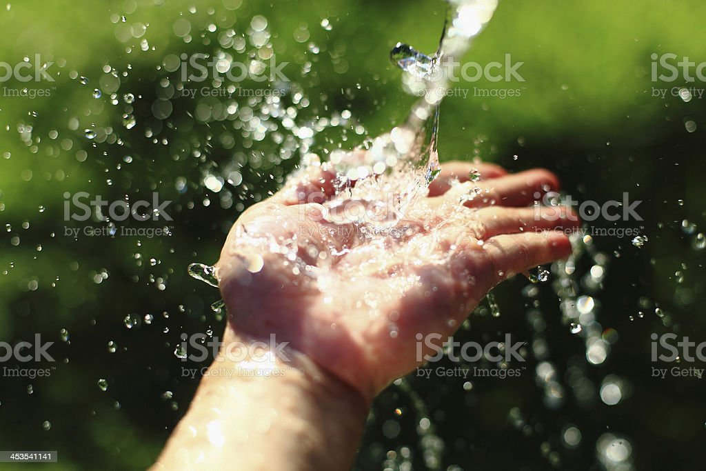 Feeling the Fresh Water stock photo