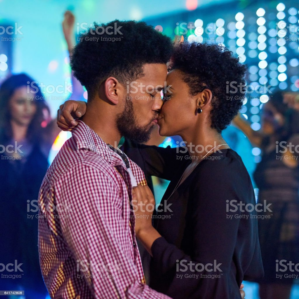 Feeling the love in the club stock photo